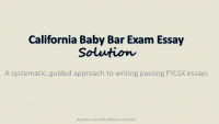 California Baby Bar Exam (FYLSX) Essay Solution Screenshot