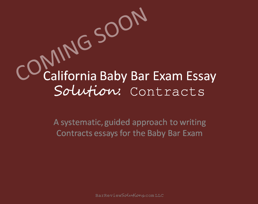 california bar exam essay outlines