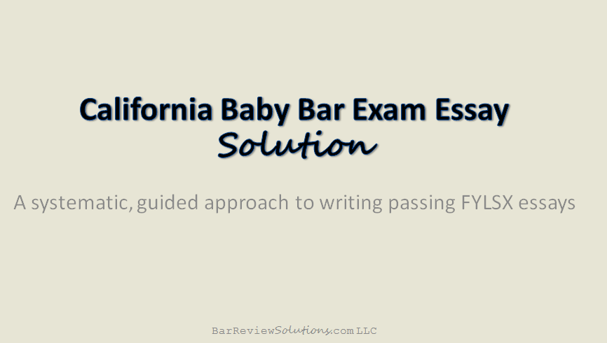 bar exam essays california Pass the california bar exam more than 100 bar exam practice essays insider tips on understanding and using irac performance tracking technology.